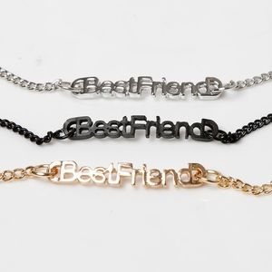 Jewelry - Best Friend Love Engraved Text Gold Bracelet